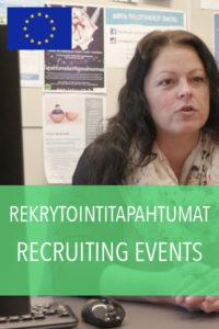 rekrytointi tapahtumat